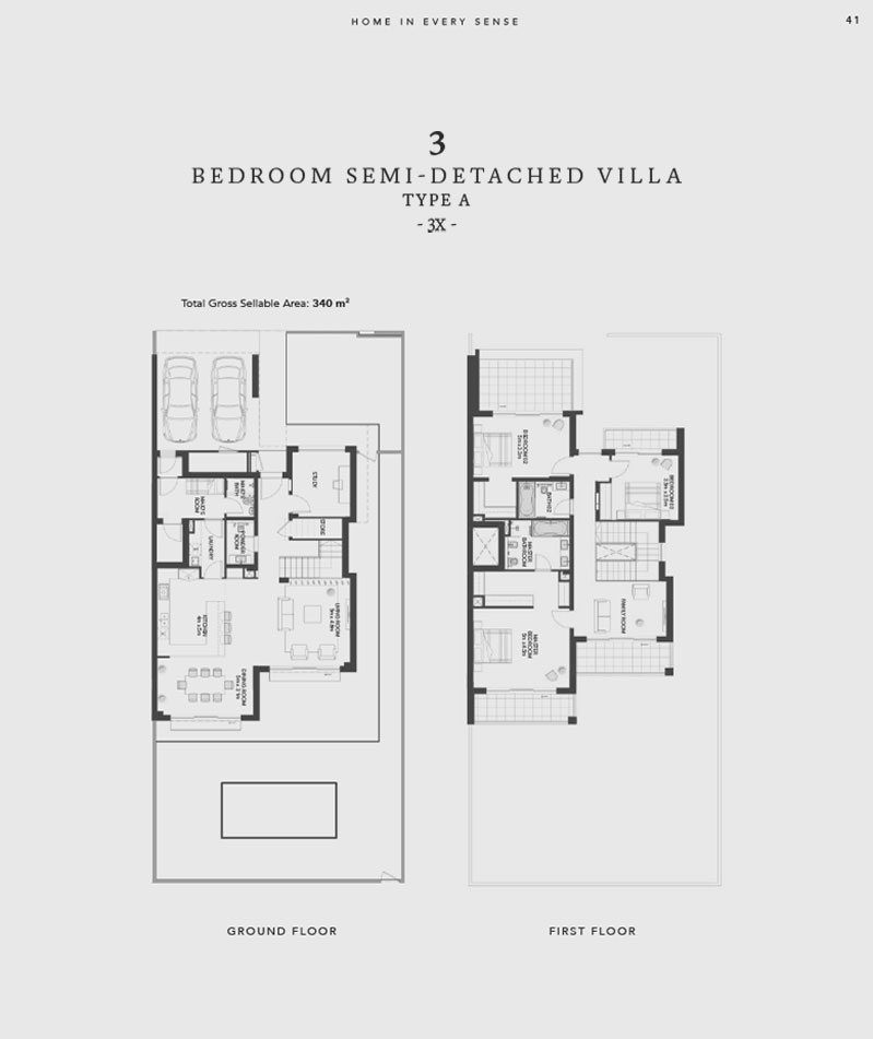 The Cedars by Aldar at Yas Acres in Yas Island - Floor Plan